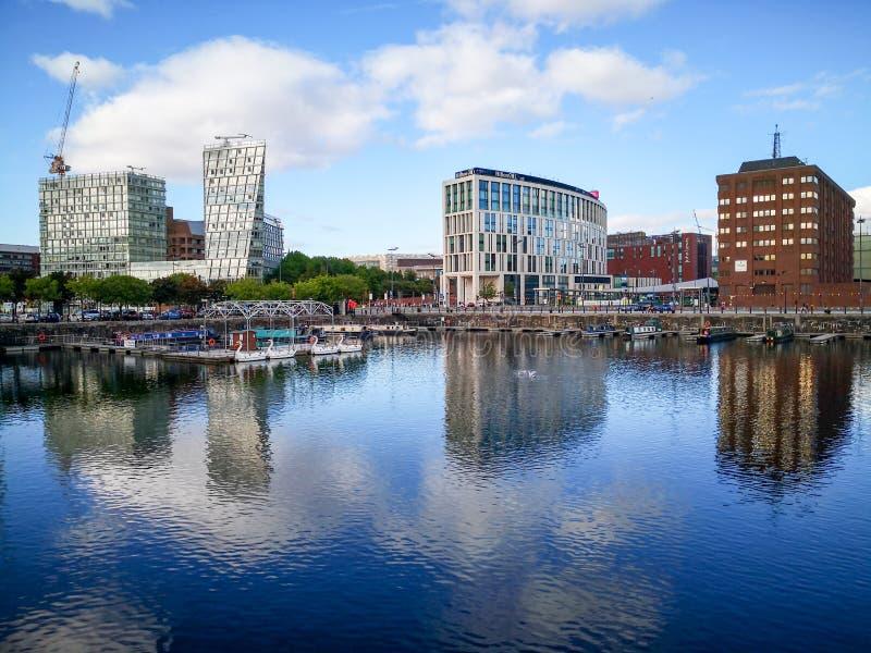 阿尔伯特船坞,老船坞在利物浦 免版税库存照片