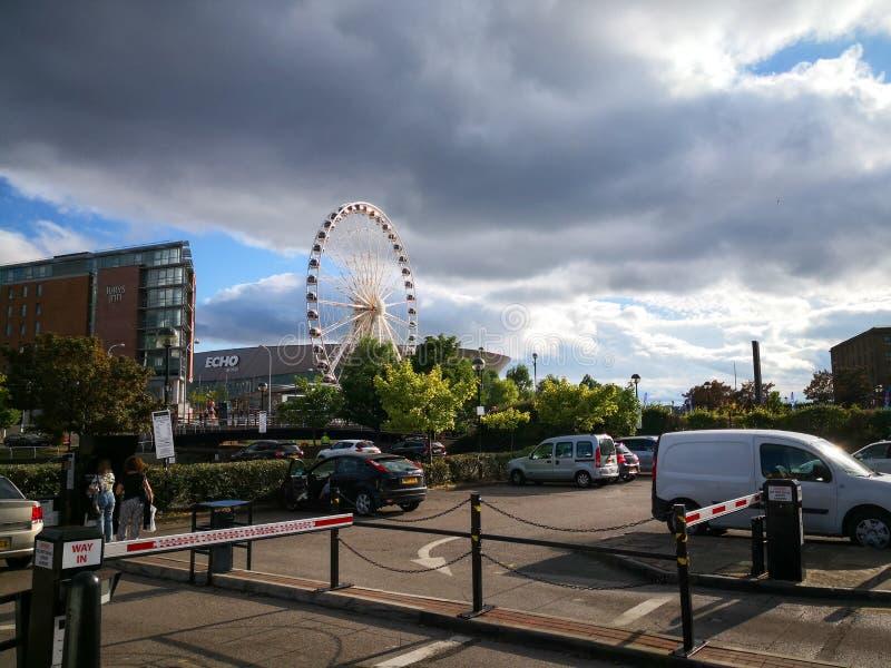 阿尔伯特船坞,老船坞在利物浦 库存图片
