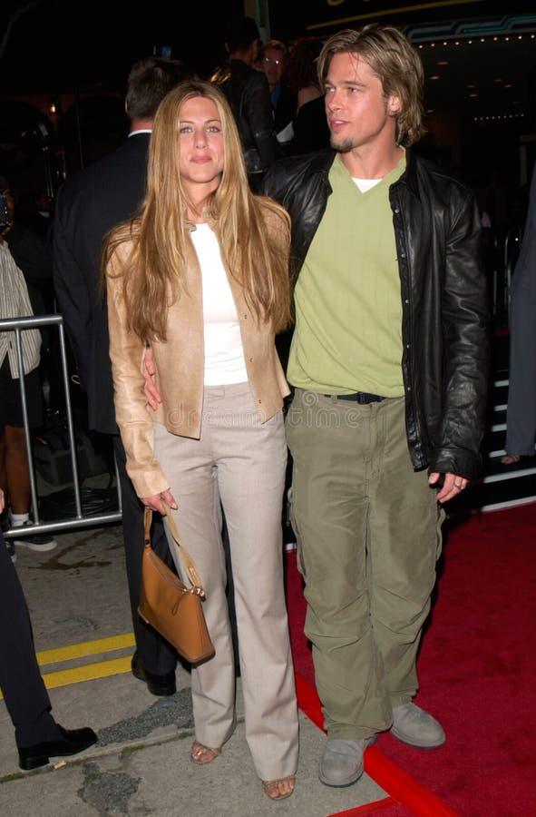 阿尔伯特Finney, Brad Pitt,詹尼弗Aniston,茱莉亚・罗伯特 免版税图库摄影