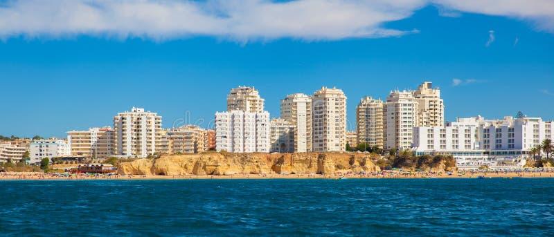 阿尔加威Panoram从海的 库存图片