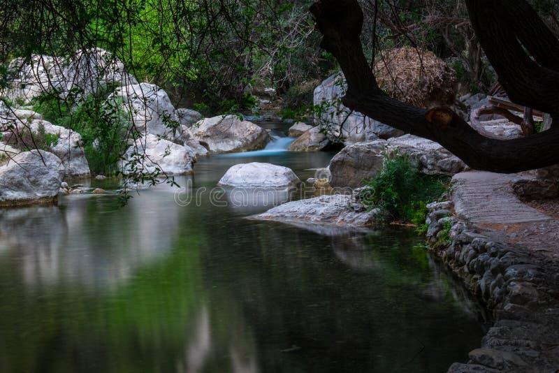 阿尔加河峡谷 地区阿利坎特 西班牙 免版税库存图片