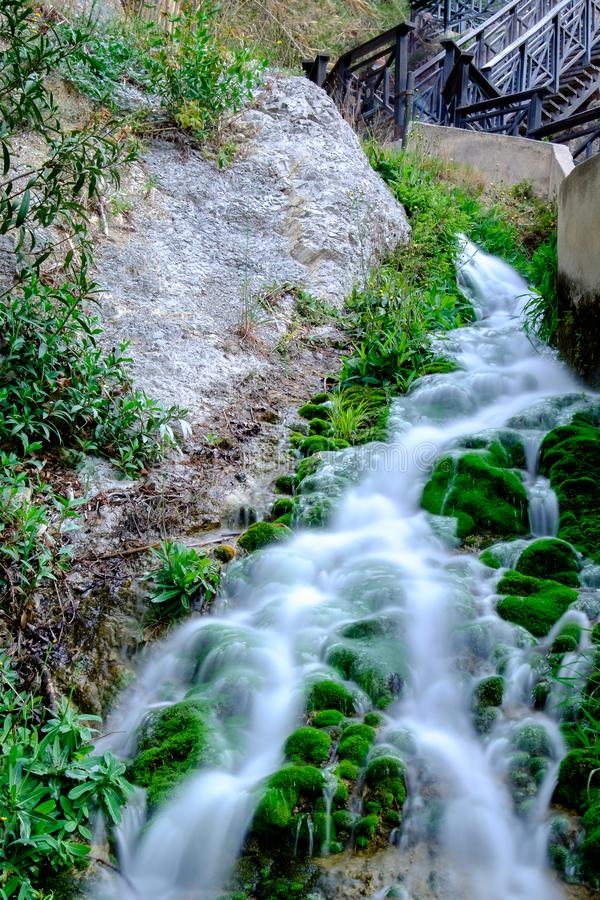 阿尔加秋天 地区阿利坎特 西班牙 库存照片