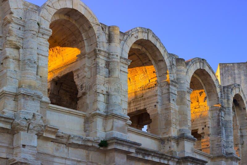 阿尔勒,法国,罗马圆形露天剧场 库存图片