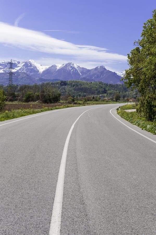 阿尔卑斯加盖的雪 免版税库存图片