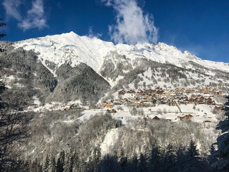 阿尔卑斯在冬天 图库摄影