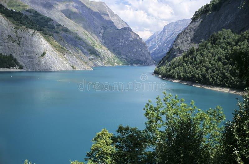 阿尔卑斯湖 免版税库存照片