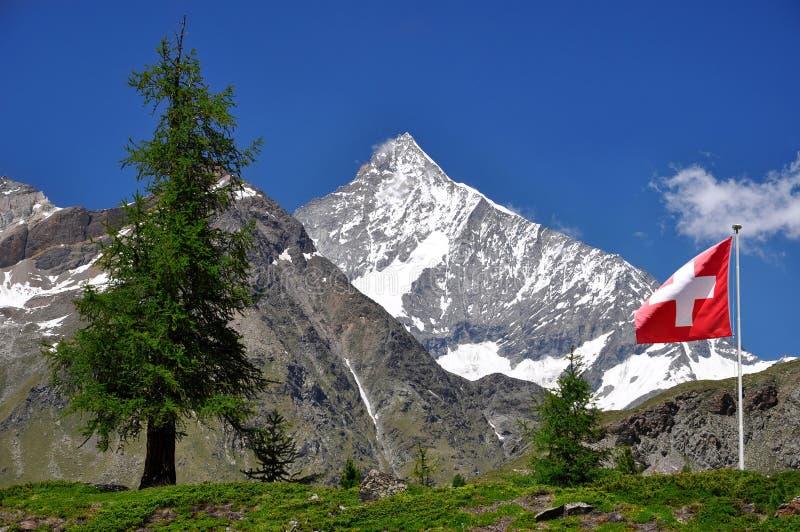 阿尔卑斯瑞士weisshorn 库存图片