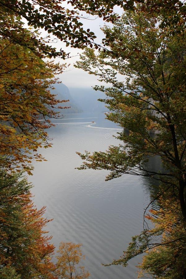 阿尔卑斯的脚的湖 免版税库存图片
