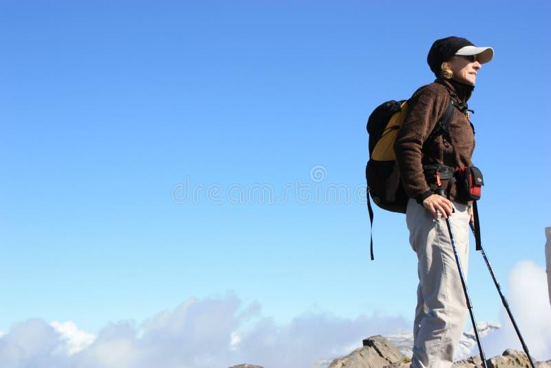 阿尔卑斯远足者瑞士顶层 免版税图库摄影