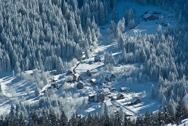 阿尔卑斯雪 免版税库存图片