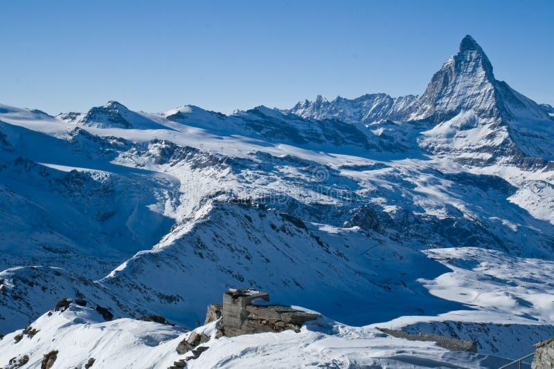阿尔卑斯马塔角山瑞士 库存图片