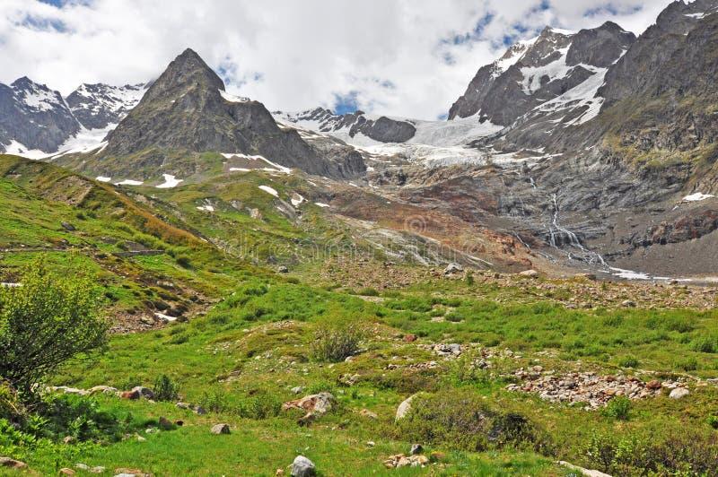 阿尔卑斯,法国,意大利,瑞士的区域 免版税库存图片