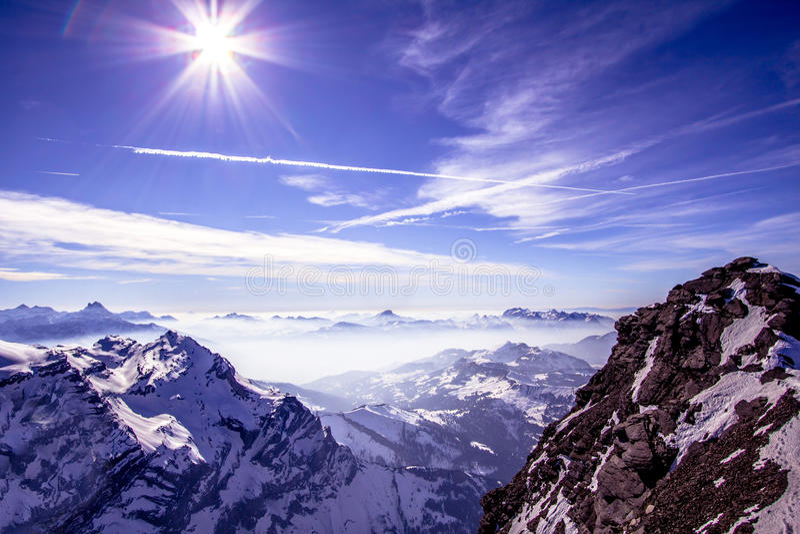 阿尔卑斯 库存照片