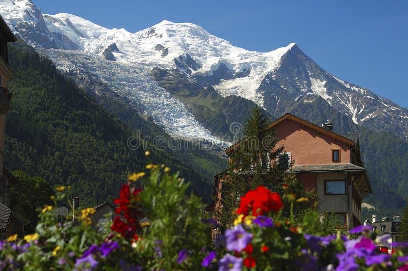 阿尔卑斯chamonix法国法语 库存图片