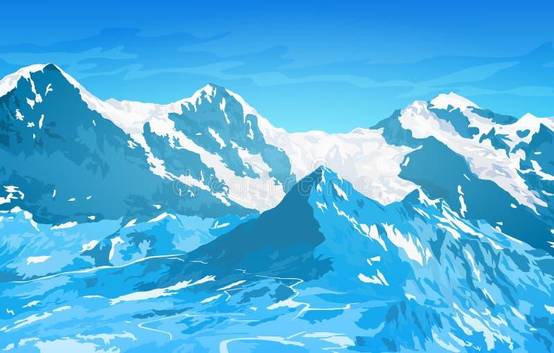 阿尔卑斯hochries山景 皇族释放例证