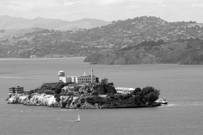阿尔卡特拉斯岛在旧金山湾-加州 免版税库存图片
