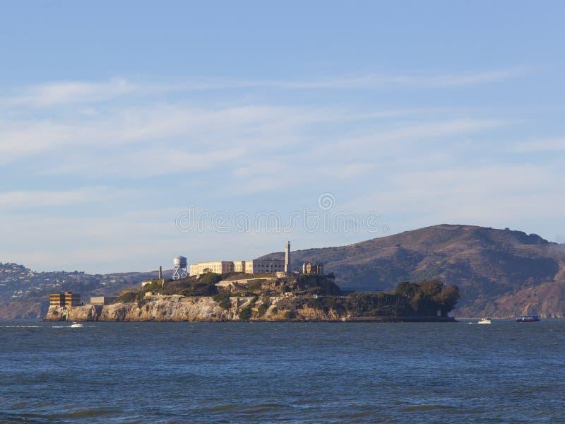 阿尔卡特拉斯岛联邦监狱,旧金山湾 库存照片