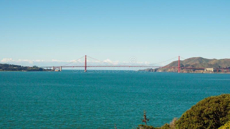 阿尔卡特拉斯岛,一所历史的监狱在旧金山湾地区 库存图片