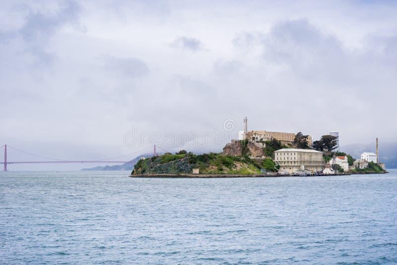 阿尔卡特拉斯岛,旧金山湾,加利福尼亚 库存照片