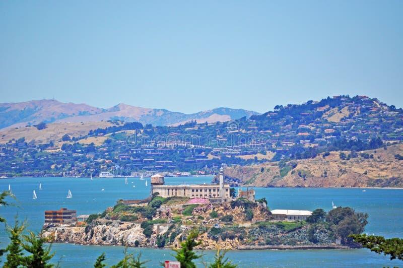 阿尔卡特拉斯岛,旧金山,加利福尼亚,美利坚合众国,美国 免版税图库摄影