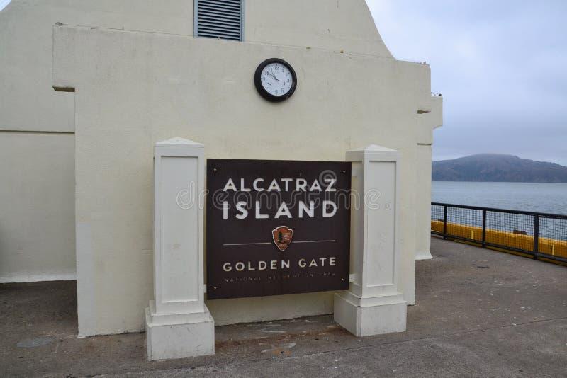 阿尔卡特拉斯岛-旧金山 免版税库存照片