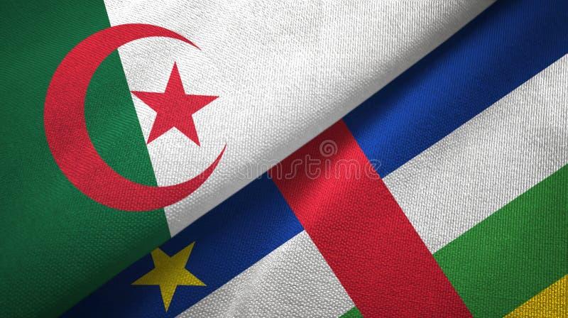 阿尔及利亚和中非共和国两旗子织物纹理 皇族释放例证