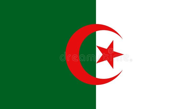 阿尔及利亚在平的样式的旗子象 r r 向量例证