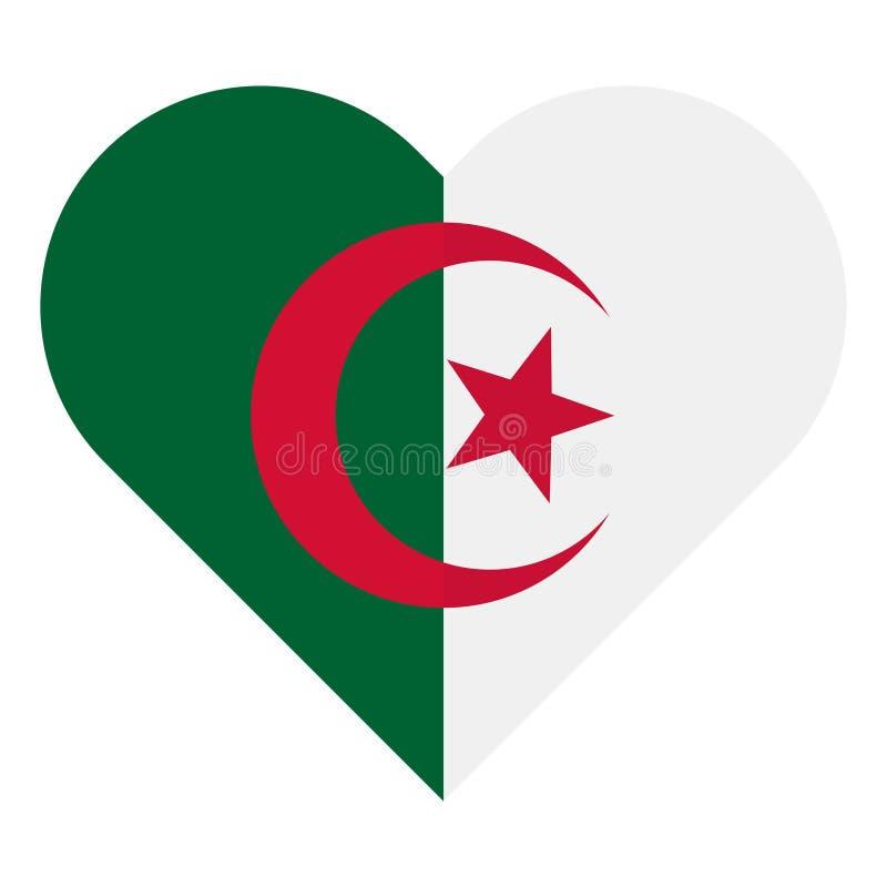阿尔及利亚平的心脏旗子 皇族释放例证