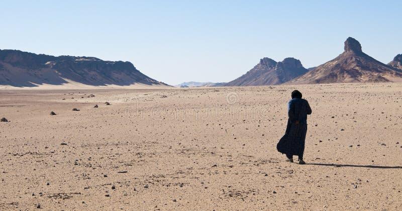 阿尔及利亚撒哈拉大沙漠柏柏尔 图库摄影