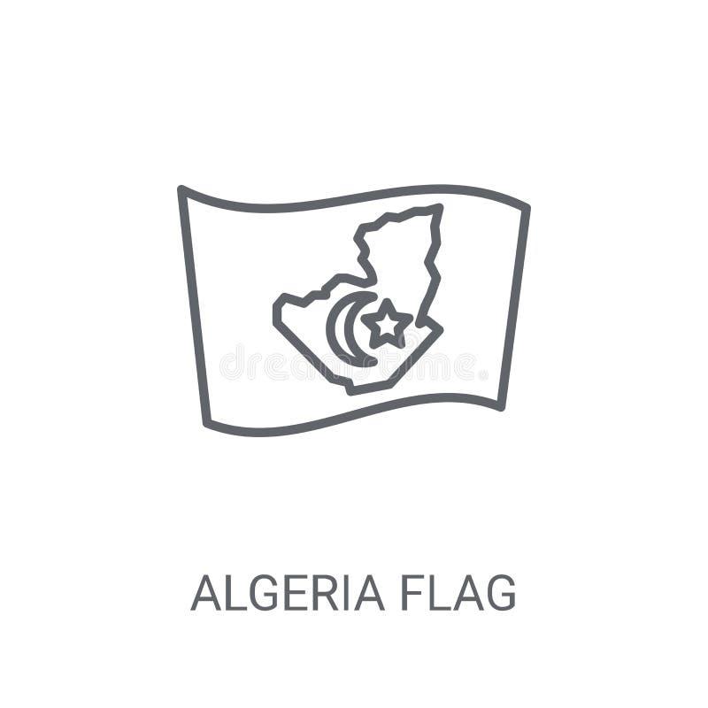阿尔及利亚旗子象 在白色bac的时髦阿尔及利亚旗子商标概念 皇族释放例证
