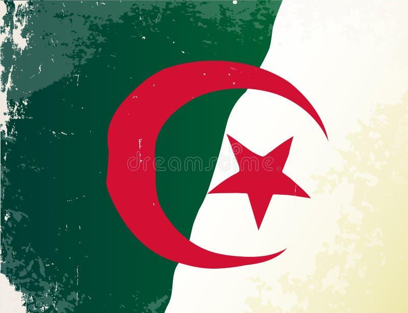 阿尔及利亚旗子难看的东西 库存例证