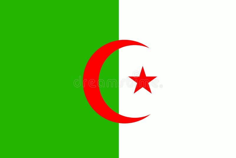 阿尔及利亚旗子 库存例证