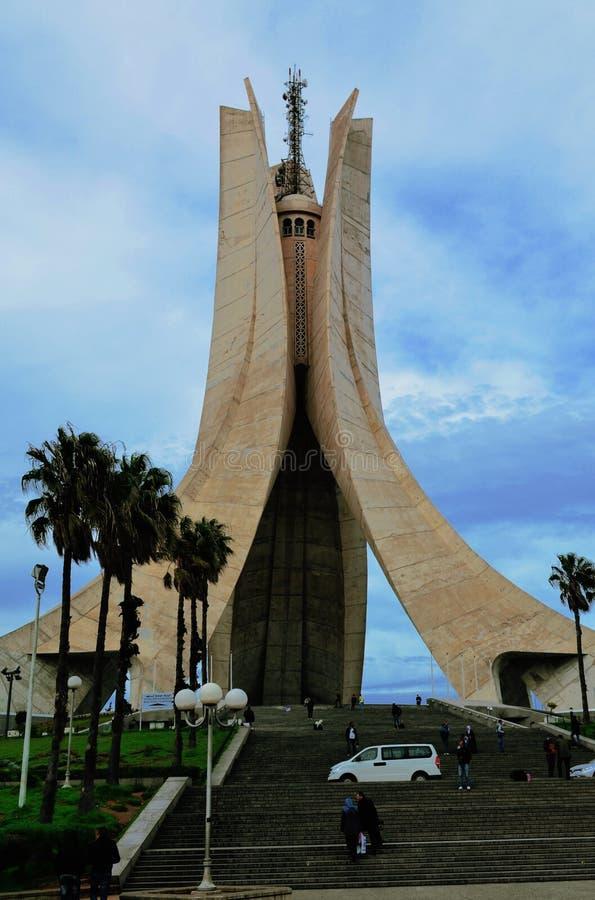 阿尔及利亚的历史纪念碑阿尔及利亚阿尔及尔 免版税库存图片