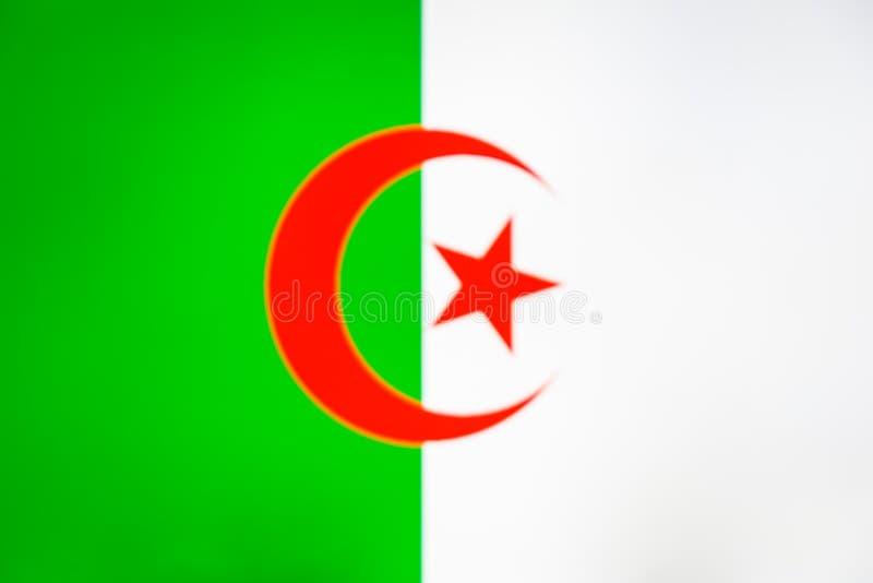 阿尔及利亚的国旗 皇族释放例证