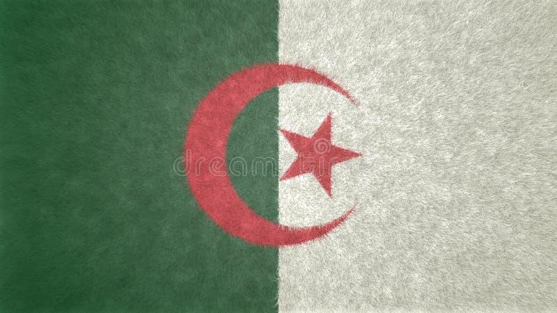 阿尔及利亚的旗子的原始的3D图象 皇族释放例证