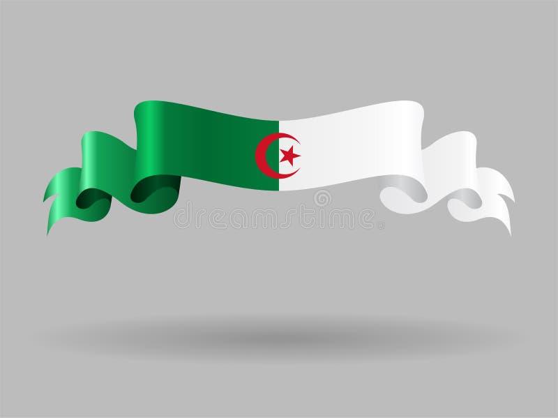 阿尔及利亚的波浪旗子 也corel凹道例证向量 皇族释放例证