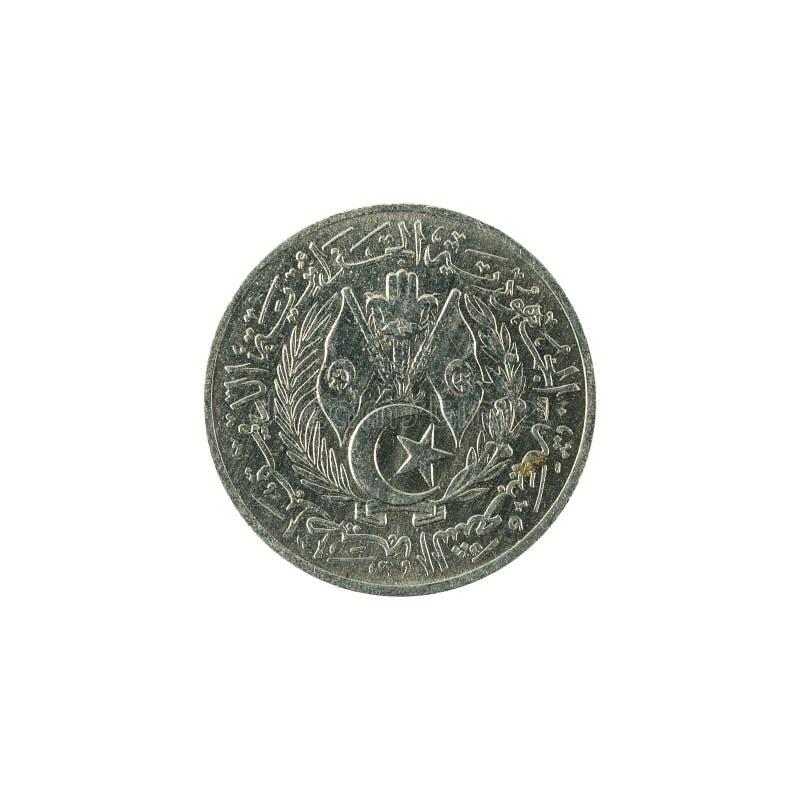 1阿尔及利亚第纳尔硬币1964相反 库存照片