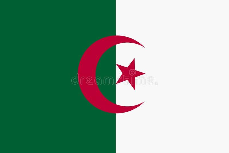 阿尔及利亚背景例证大文件旗子  向量例证
