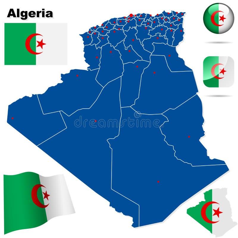 阿尔及利亚集 向量例证