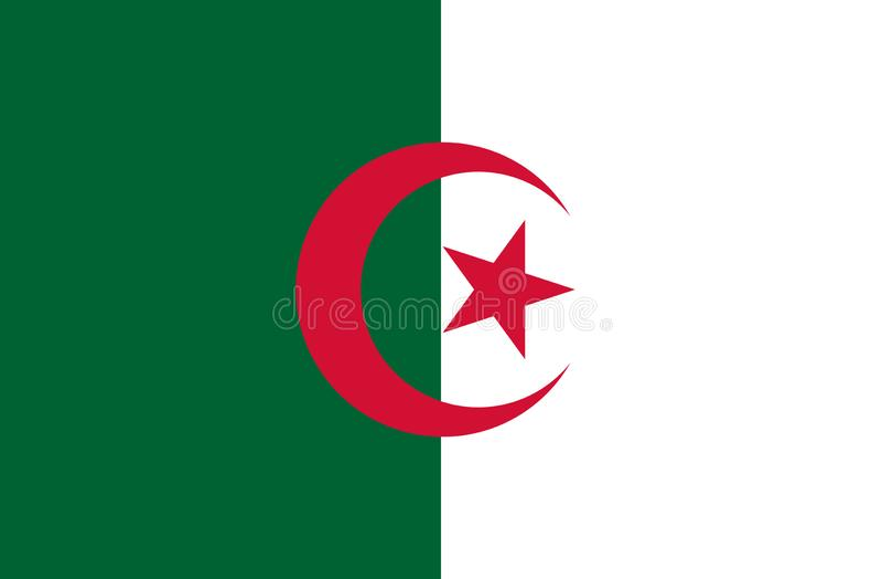 阿尔及利亚的旗子 皇族释放例证