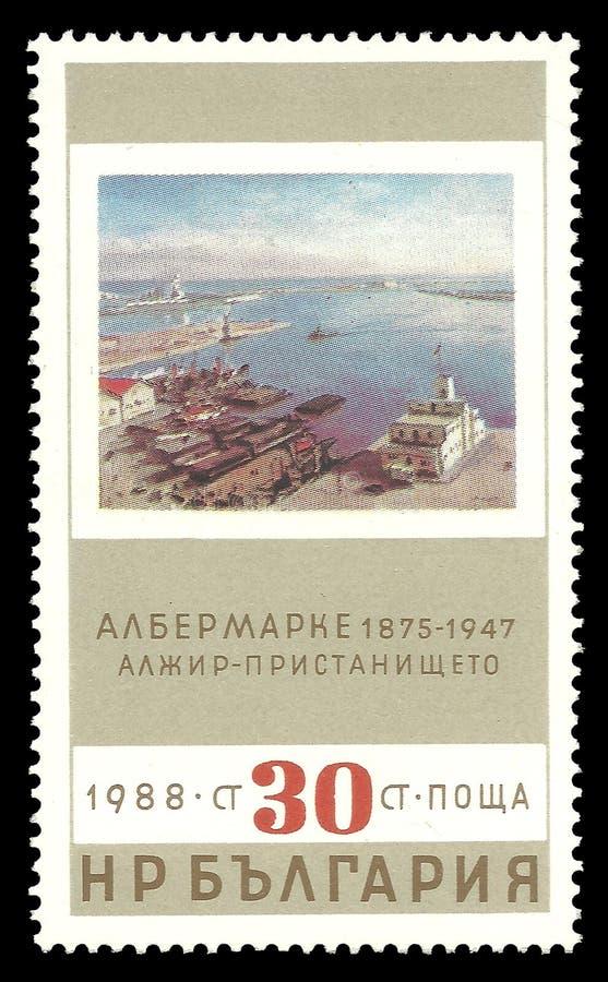 阿尔及尔港阿尔伯特Marquet 免版税库存照片
