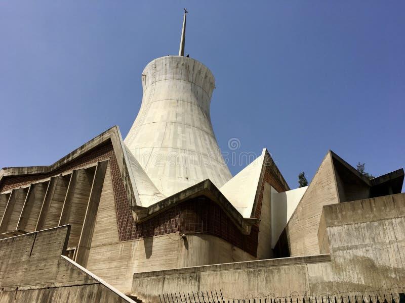 阿尔及尔,阿尔及利亚- 2018年5月5日:Cathedrale Sacre Cour阿尔及尔阿尔及尔耶稣圣心主教座堂是一天主教堂locat 免版税库存照片