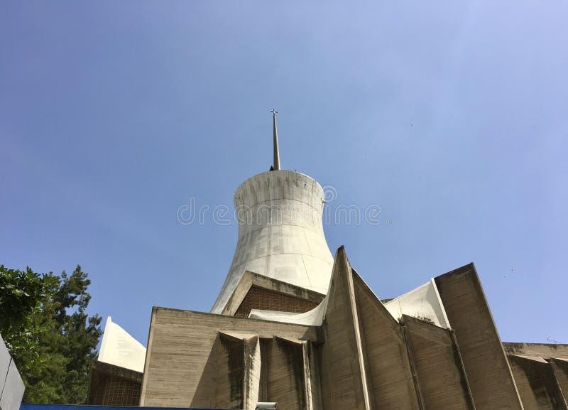阿尔及尔,阿尔及利亚- 2018年5月5日:Cathedrale Sacre Cour阿尔及尔阿尔及尔耶稣圣心主教座堂是一天主教堂locat 库存图片