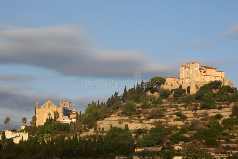 阿尔塔马略卡马略卡巴利阿里群岛镇教会西班牙 库存图片