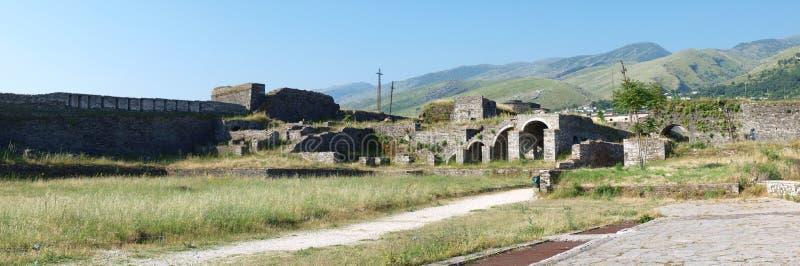 阿尔巴尼亚城堡gjirokastra 免版税库存图片