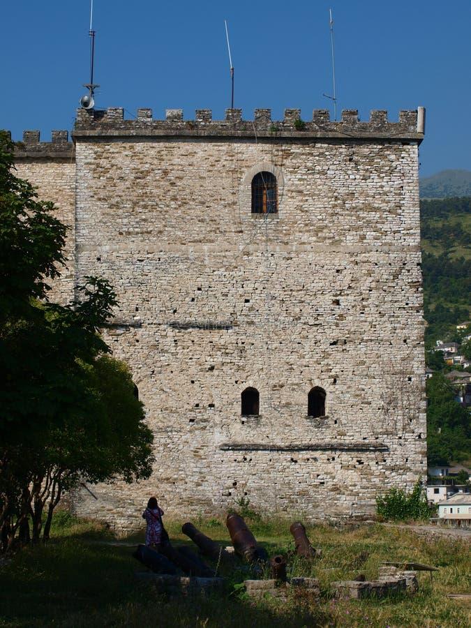 阿尔巴尼亚城堡gjirokastra 免版税图库摄影