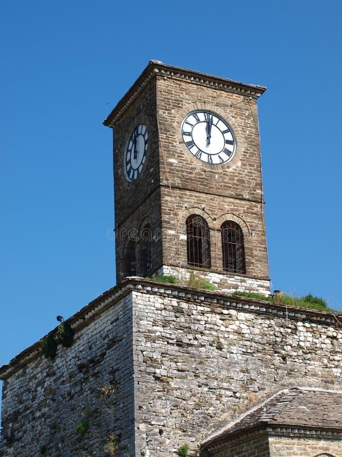 阿尔巴尼亚城堡gjirokastra 库存图片