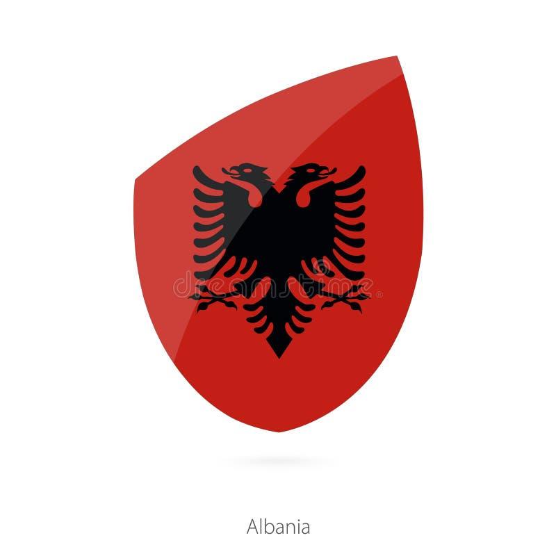 阿尔巴尼亚标志 阿尔巴尼亚橄榄球旗子 向量例证
