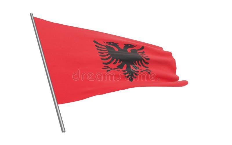 阿尔巴尼亚的旗子 向量例证