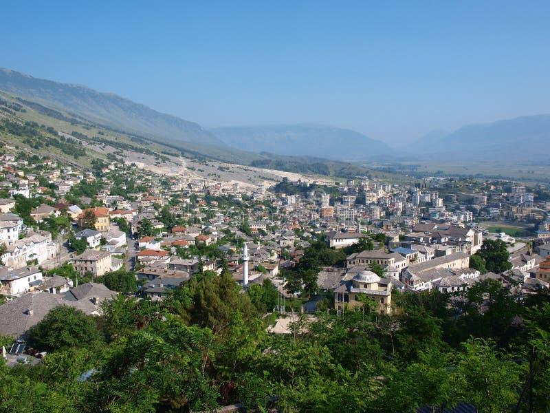 阿尔巴尼亚gjirokastra全景 图库摄影